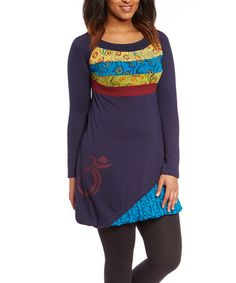 Another great find on #zulily! Blue & Yellow Abstract Tunic by Adria Mode #zulilyfinds