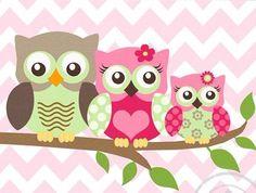Owl Decor Girls wall art - Owl canvas art - Owl Nursery - Owl Childrens Art…