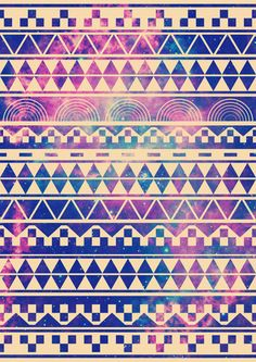 Galaxy aztec print--might've already pinned this. I pin way too fast...
