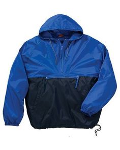 Packable Nylon Jacket Royal/Navy, Corporate Apparel and Clothing