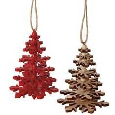 The Jolly Christmas Shop - Wooden Snowflake Christmas Tree Ornament, $8.99 (http://www.thejollychristmasshop.com/wooden-snowflake-christmas-tree-ornament/?page_context=category