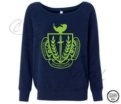 NPC Crestfoil Slouchy Sweater, so cute! We can totally add all the USF sororities around the crest. Zeta Tau Alpha, Kappa Alpha Theta, Kappa Delta, Sorority And Fraternity, Sorority Shirts, Sorority Recruitment, Slouchy Sweater, Sorority Life, Sweater Design