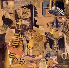 Romare Bearden COLLAGE, A Centennial Celebration - Exhibitions - Michael Rosenfeld Art African American Artist, American Artists, Romare Bearden, Stitch Doll, Collage Art, Collage Ideas, Line Drawing, Drawing Tips, Thing 1