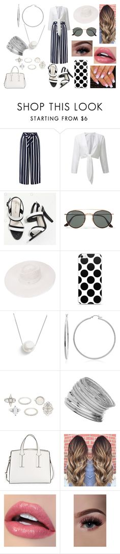 """""""Summer City Date"""" by roxy-crushlings ❤ liked on Polyvore featuring Monsoon, Ray-Ban, Maison Michel, Chan Luu, Sterling Essentials, Charlotte Russe, Miss Selfridge and French Connection"""