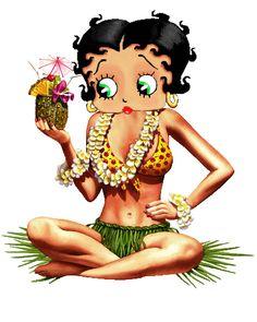 Betty Boop Hawaiian