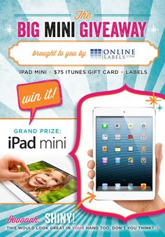 GIVEAWAY: iPad mini (& more) from OnlineLabels.com #giveaway #ipad @OnlineLabels.com #HWTM