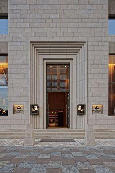 hotel door Creating unique and exclusive de - hotel Design Entrée, Facade Design, Door Design, House Design, New Classical Architecture, Classic Architecture, Facade Architecture, Chinese Architecture, Modern Entrance