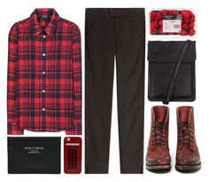 """red"" by hanadarkos ❤ liked on Polyvore featuring A.P.C., 7 For All Mankind, Freebird, Ann Demeulemeester, Acne Studios and Retrò"
