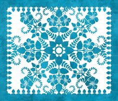 Hawaiian cheater quilt fabric by Jennartdesigns $18