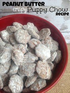 Chocolate Peanut Butter Crispy Puppy Chow Recipe!
