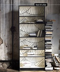 black-white-Billy-bookcase-limited-edition-IKEA Susanna Lofgren design