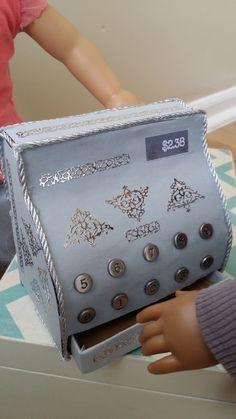 DIY doll cash register (american girl size)