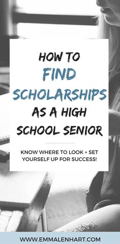 Looking for scholarships for college? Find tips for high school seniors on how to find scholarships online. Read the full post on EmmaLenhart.com!