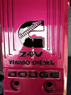 Pink valve cover  I got this idea from one of the TS fuel girls