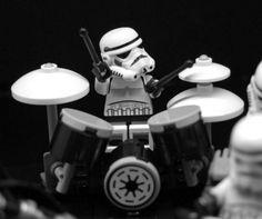Stormtrooper on drums!
