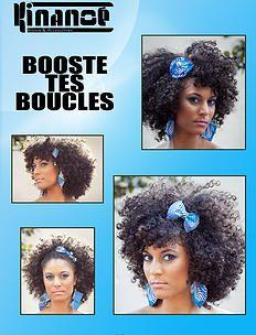 bykinanoe   Tutos et idées coiffure Boucles d'oreilles & Accessoires pour cheveux en wax : noeud, headband Créations Kinanoé Boucles curly hair hairstyle