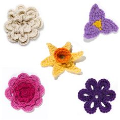 Crochet Flowers Round-Up Perhaps for yarn bombing day...