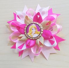 Princess Aurora Inspired Hair Bow Aurora Hair by BerryTreasured