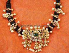 Jewellery Designs: Pretty Black Cord Choker
