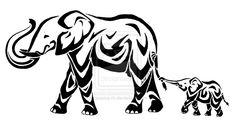 Stylized+Elephants+by+jessica-rb.deviantart.com+on+@deviantART