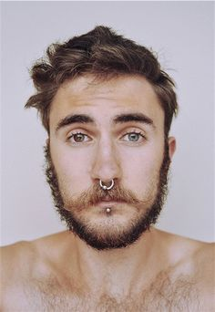 Labret Piercing Men