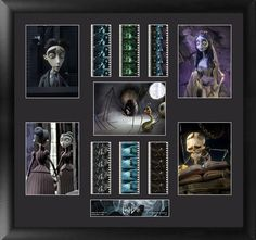 """Tim Burton's Corpse Bride 20x19"""" Wood Framed Film Cells Plaque Movie Collectible 