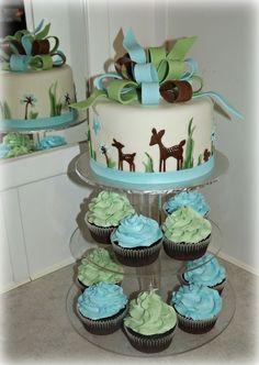 woodland deer baby shower — Birthday Cakes
