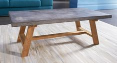 London coffee table with concrete table top on an Oak frame