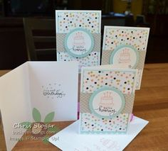 Endless Birthday Wishes with Sweet Sorbet DSP  #cardmaking #stampinup #photopolymer