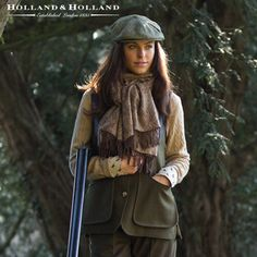 Hey, we like to look good while we shoot. It intimidates the birds. Here's a beautiful shooting vest. Holland & Holland Ladies Loden Shooting Vest Country Attire, Country Wear, Country Fashion, Pheasant Hunting, Quail Hunting, Skeet Shooting, Shooting Sports, Hunting Clothes, Hunting Outfits