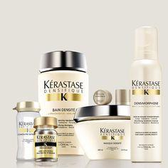 Tratamiento completo Densifique de Kerastase  Con los nuevos productos.