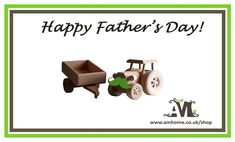 Happy Father's Day from all of us here at AM Home!  Shop our handmade eco wooden toys at www.amhome.co.uk/shop Kids Toys Online, Happy Fathers Day, Uk Shop, Wooden Toys, Kids Room, Room Decor, Decor Ideas, Place Card Holders, Store