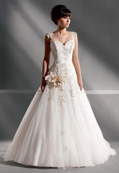 Tulle dress decorated with lace