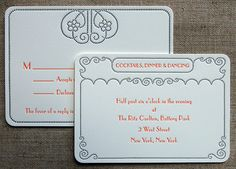 Art Deco inspired vintage wedding announcements - Google Search