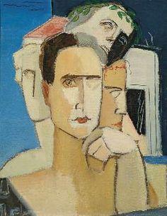 Γεράσιμος Στέρης Greece Painting, Face Art, Art Faces, 10 Picture, Greek Art, Conceptual Art, Printmaking, Art For Kids, Oil On Canvas