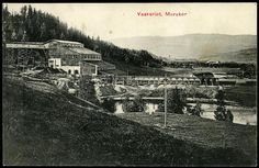 MERÅKER i Nord-Trøndelag fylke, Vaskeriet. Meget uvanlig kort fra stedet  Utg F.K.Næss, postg. 1909,