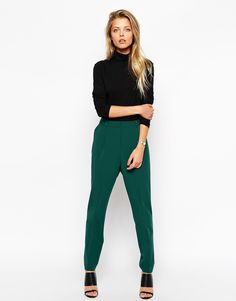 Image 1 of ASOS Pants in High Waist with Straight Leg