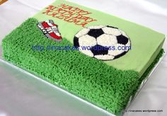 Soccer Cakes for Girls   football cake   Inacakes