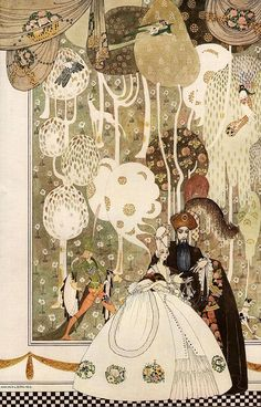 "This illustration is by a Danish illustrator, Kay Rasmus Nielsen, who was popular in the early 20th century, the ""golden age of illustration."""