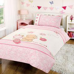 Forever Friends Cot Bed Duvet Cover Set - Pink. COTTON - http://www.childrens-rooms.co.uk/forever-friends-cot-bed-duvet-cover-set-pink-cotton.html #cottonbedding #girlsbedding #toddlerbedding