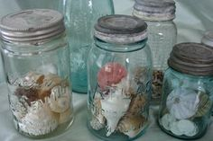 This is my Decorating Shortcut for the @gooseberrypatch Simple Shortcut Scavenger Hunt: Fill mason jars with rocks, shells, colored glass beads, or whatever you like. I love mason jars and once filled, they make a simple yet beautiful centerpiece!