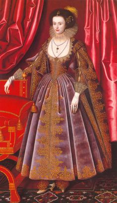 ca. 1616 Susan Feilding, née Villiers by William Larkin (location unknown to gogm)   Grand Ladies   gogm