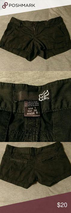 Fox black shorts Perfect condition black shorts. Very cute size 1 Fox Shorts