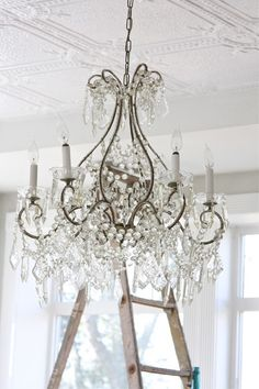 Chandeliers are the quintessential shabby chic accent.