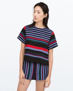 SIDE SLIT STRIPED TOP-Shirts-Tops-Woman-COLLECTION SS15 | ZARA United States
