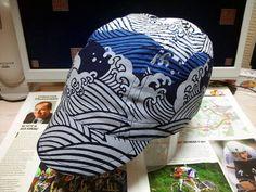 """「波濤」 """"break of surf"""" handmade cycling cap Cycling Wear, Cycling Bikes, Biking, Surf, Baseball Hats, Bicycle, Fancy, Tools, Adventure"""