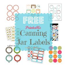 Canning Jar Labels Collage