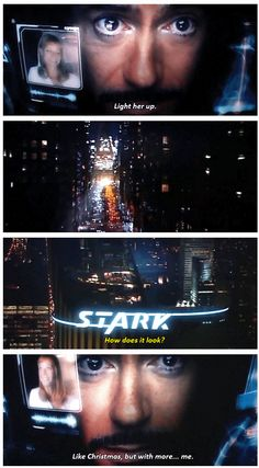 Tony Stark finally has a sign with his name on it that actually closely resembles the size of his ego. <------- THAT COMMENT!