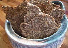 Found on About.com. A great high fiber, crunchy, nutritious, and tasty snack. Good with dips, spreads, or plain. The whole recipe is 6 grams of effective carbohydrate plus 35 grams of fiber