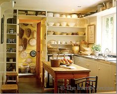 Nicky Haslam ~ his kitchen at his country home